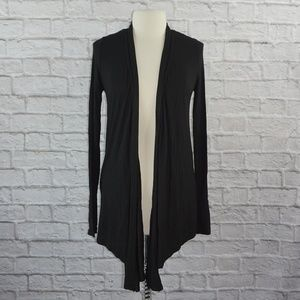 Michael Stars Black Open Front Cardigan